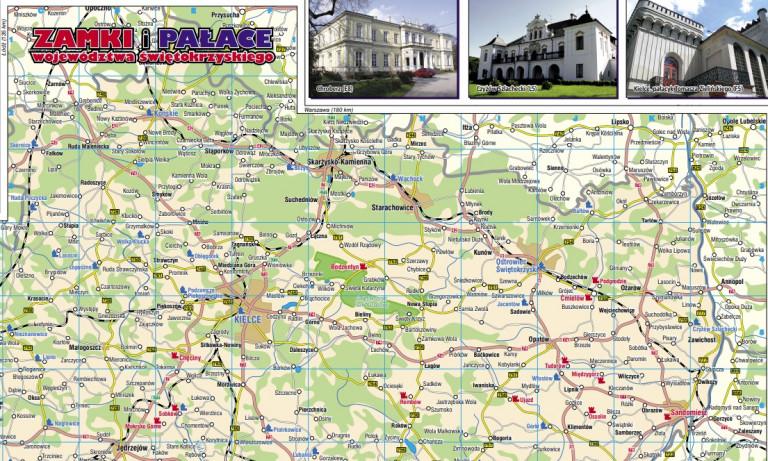 Zamki i pałace – mapa