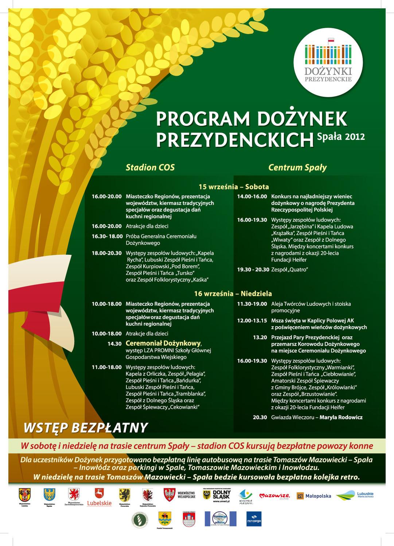 Dożynki Prezydenckie Spała 2012 Urząd Marszałkowski Województwa