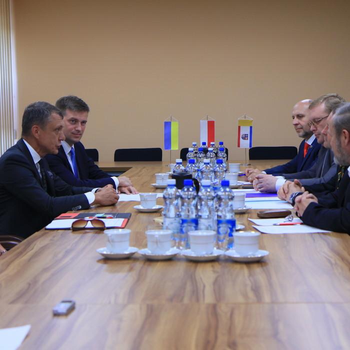 Przewodniczący Sejmiku i wicemarszałek gościli władze Obwodu Winnickiego
