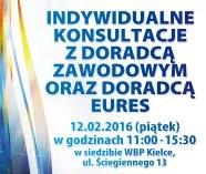 Indywidualne konsultacje z doradcą zawodowym oraz doradcą EURES