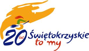 Logo Obchodów Roku Jubileuszu 20-lecia Województwa Świętokrzyskiego