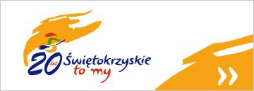 Baner obchodów Roku Jubileuszowego 20-lecia Województwa Świętokrzyskiego