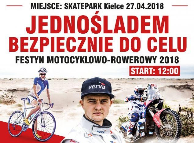 Jednośladem bezpiecznie do celu w Kielcach