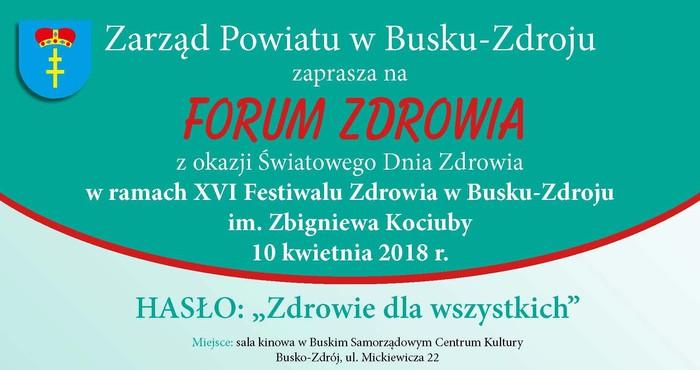 Forum z okazji Światowego Dnia Zdrowia w Busku-Zdroju