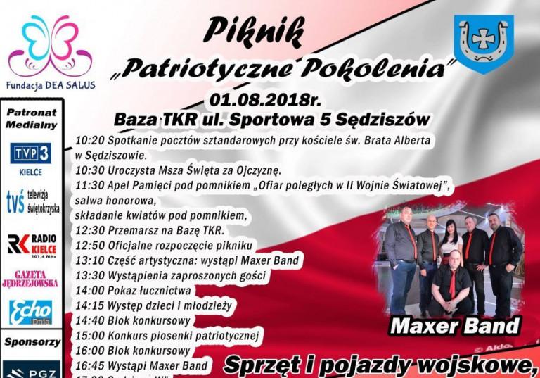 """Piknik """"Patriotyczne Pokolenia"""" w Sędziszowie"""