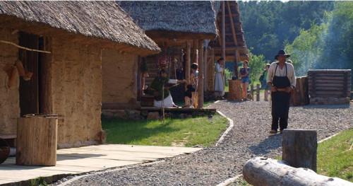Osada Średniowieczna widok na dom kowala