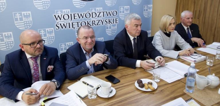 Piąte posiedzenie Zarządu Województwa Świętokrzyskiego