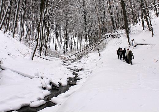 Zima Turyści