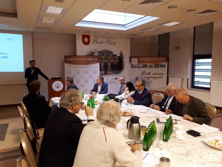 Spotkania delegacji Europejskiego Banku Inwestycyjnego z Klastrem Uzdrowiskowym Busko-Zdrój oraz władzami samorządowymi Kazimierzy Wielkiej