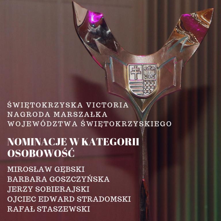 Świętokrzyska Victoria – nominacje w kategorii Osobowość