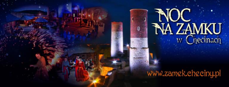 Chęciński zamek zaprasza nocą