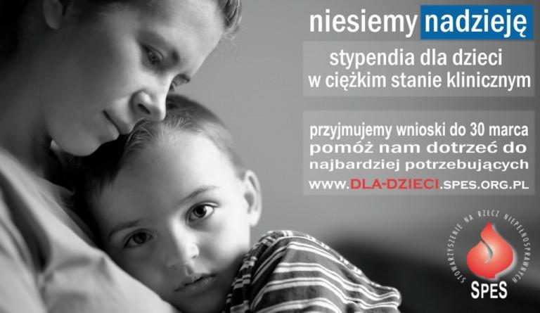 Stypendialna pomoc dla chorych dzieci