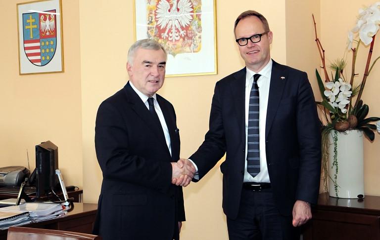 Ambasador Finlandii gościem marszałka
