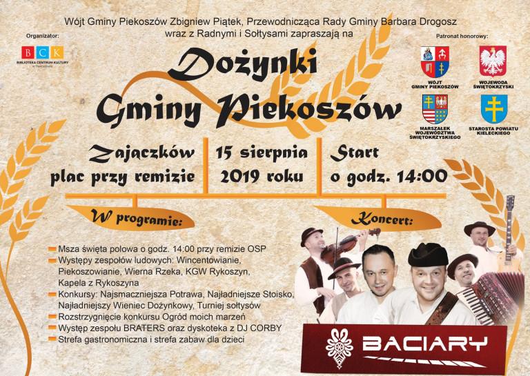 Dożynki gminy Piekoszów