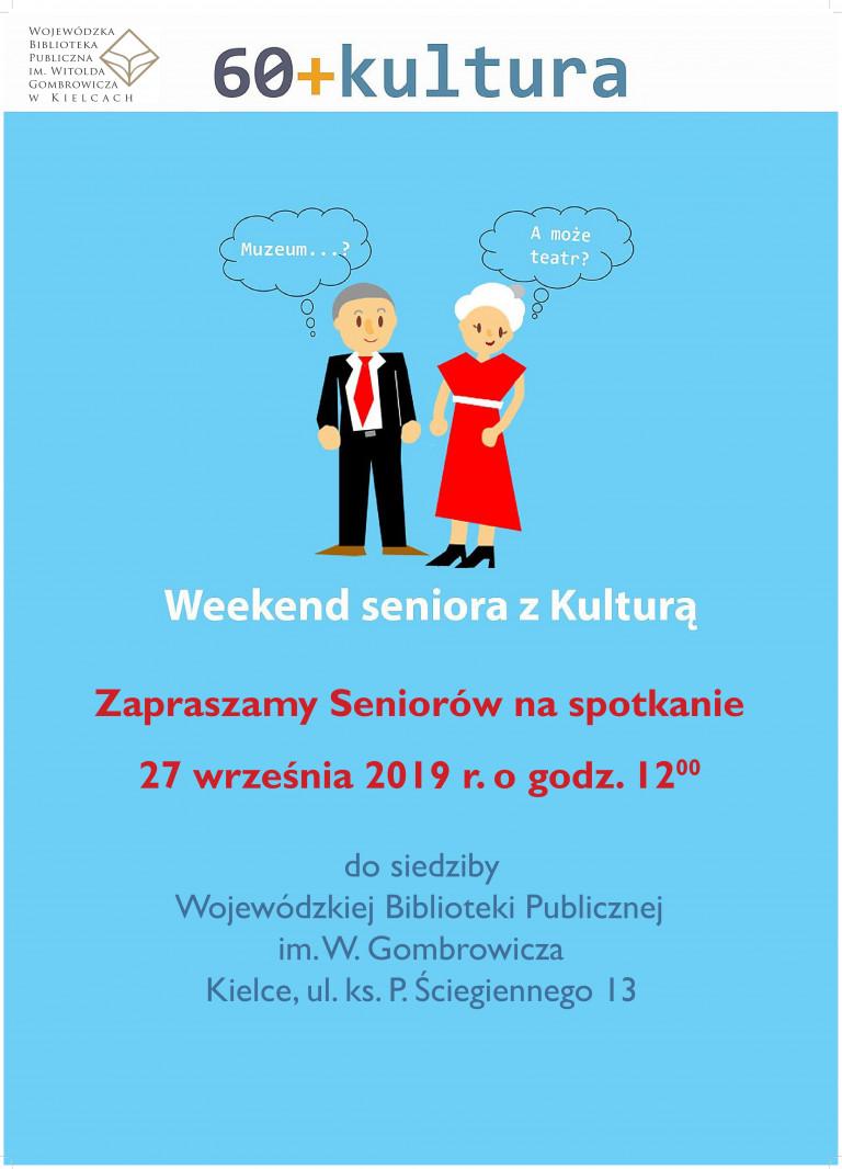 60+Kultura: Weekend Seniora z Kulturą w Wojewódzkiej Bibliotece Publicznej