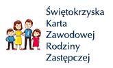Logo Świętokrzyskiej Karty Zawodowej Rodziny Zastępczej