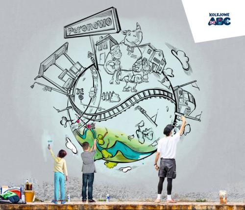 plakat konkursu Akcja Mural organizowanego przez Urząd Transportu Kolejowego