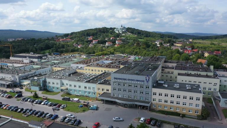 Świętokrzyskie Centrum Onkologii, budynek z lotu ptaka