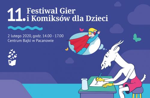 11 Festiwal Gier I Komiksów Dla Dzieci Plakat Imprezy W Europejskim Centrum Bajki