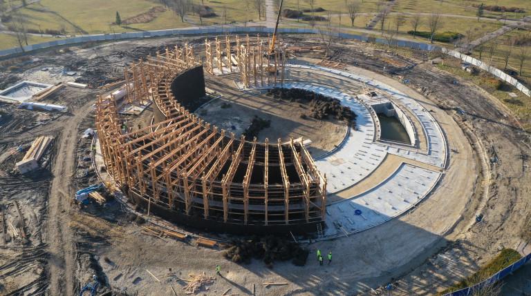 Trwają prace przy budowie imponującego kompleksu uzdrowiskowego w Busku-Zdroju