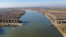 budowa mostu w Nowy Korczynie przez Wisłę, stan prac styczeń 2020