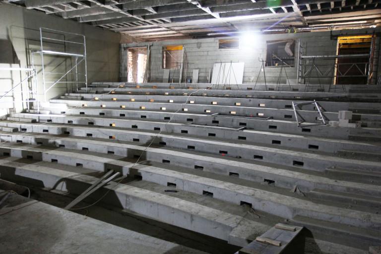 Trwają prace budowlane w przyszłej sali widowiskowej Wojewódzkiego Domu Kultury