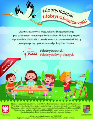 Plakat Konkursu Plastycznego Dobry Bo Polski Dobry Bo świętokrzyski