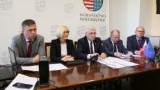 Tomasz Jamka, Renata Janik, Andrzej Bętkowski, Marek Bogusławski Jacek Sułek podczas wideokonferencji