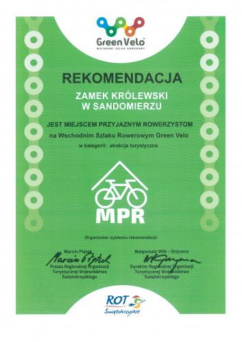 Certyfikat dla Muzeum Okręgowego W Sandomierzu
