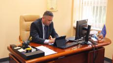 Członek Zarządu Tomasz Jamka Podczas Prowadzonej Zdalnie Sesji Sejmiku Województwa