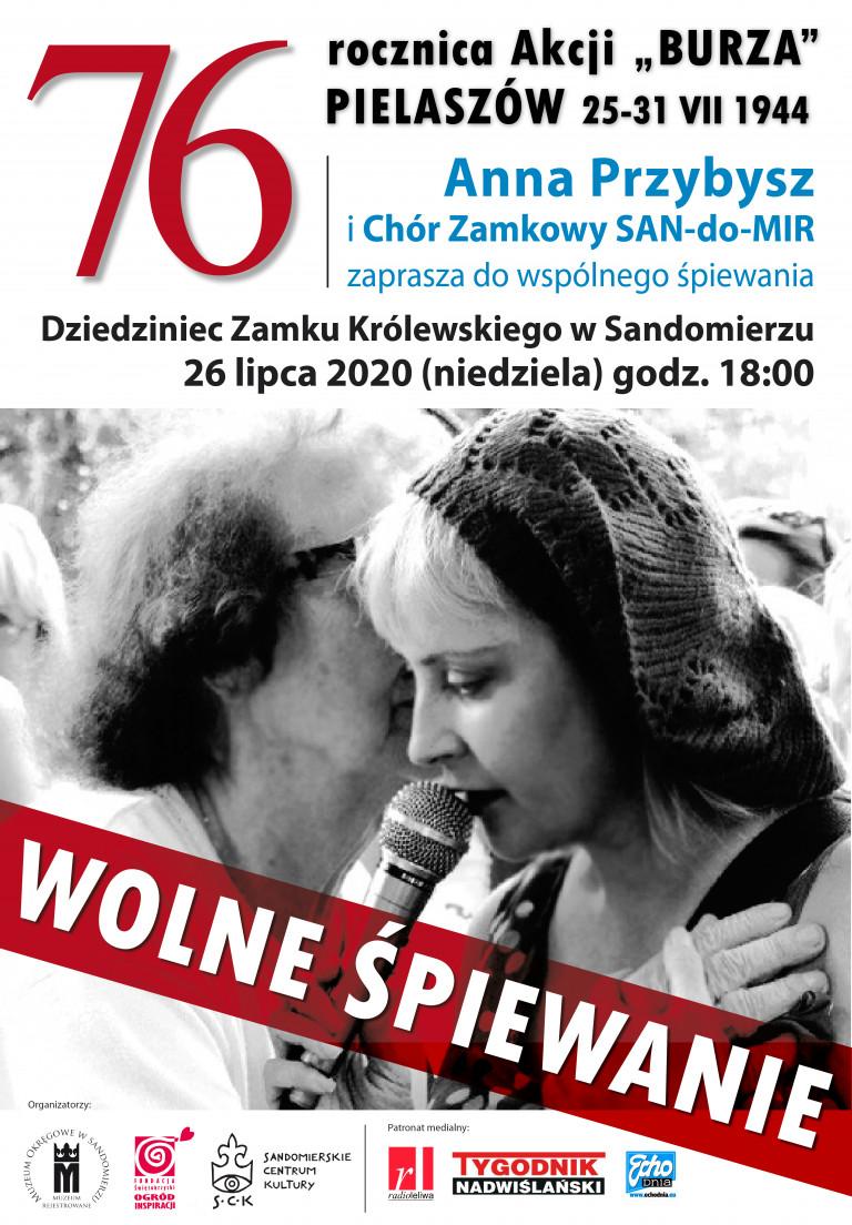 Wolne Śpiewanie na Dziedzińcu Zamku Królewskiego w Sandomierzu