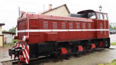 Lokomotywa spalinowa na stacji w Jędrzejowie
