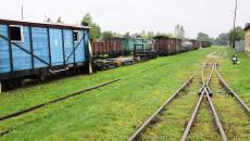 Wagony towarowe na torowisku stacji w Jędrzejowie