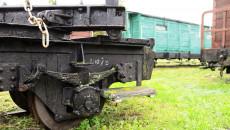 Część wagonu towarowego na stacji w Jędrzejowie