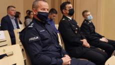 Przedstawiciele Wojewódzkiej Policji w Kielcach i Państwowej Straży Pożarnej w Kielcach