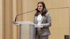 Przemawia Zofia Mogielska Przewodnicząca Młodzieżowego Sejmiku Województwa Świętokrzyskiego