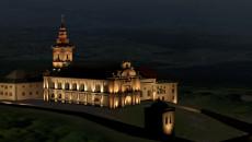 Wizualizacja oświetlenia klasztoru na Świętym Krzyżu