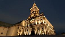 Klasztor na Świętym Krzyżu nocą - wizualizacja oświetlenia