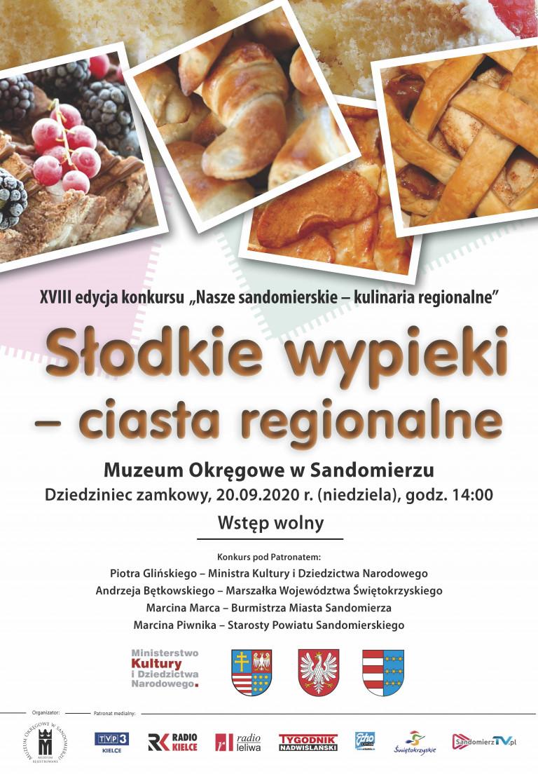 "Plakat konkursu ""Nasze sandomierskie – kulinaria regionalne"""