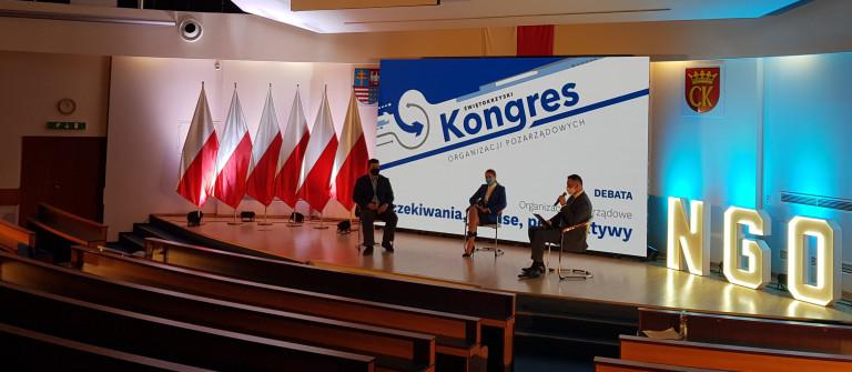 2 Świętokrzyski Kongres Organizacji Pozarządowych Debata w Kielcach