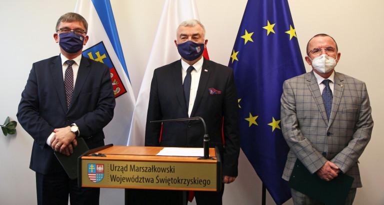 Konferencja Prasowa Zarządu Województwa Oraz Przewodniczącego Sejmiku Województwa Świętokrzyskiego