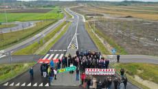 Otwarcie Obwodnicy rozsuwanie barier widok z lotu ptaka