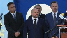 Członek Zarządu Tomasz Jamka oraz Posłowie Mariusz Gosek i Michał Cieślak