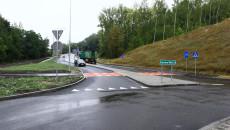 Rzut z nowo powstałego ronda w kierunku Pińczowa