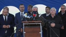 Przemawia marszałek Województwa Świętokrzyskiego Andrzej Bętkowski