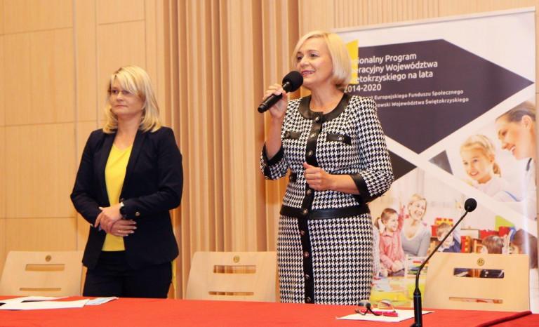 Dyrektor Katarzyna Kubicka I Wicemarszałek Renata Janik