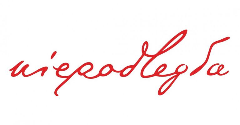 Czerwony napis na białym tle: Niepodległa