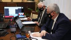 Członek Zarządu Województwa Świętokrzyskiego Marek Jońca i marszałek Andrzej Bętkowski
