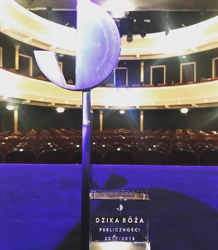 Nagroda W Plebiscycie Teatru Im. S. Żeromskiego O Dziką Różę