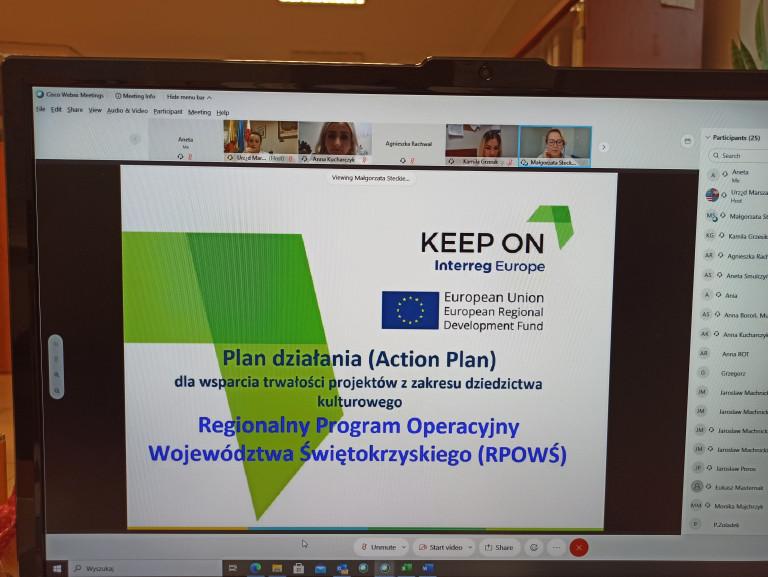 "Webinarium W Ramach Projektu ""keep On"" Interreg Europe"